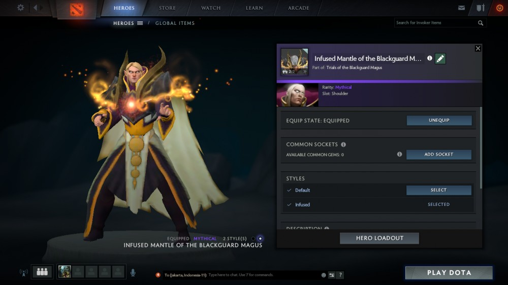 Infused Mantle of the Blackguard Magus (Invoker)