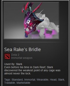 Sea Rake's Bridle (Immortal TI7 Slark)