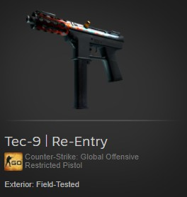 Tec-9 | Re-Entry (Restricted Pistol)
