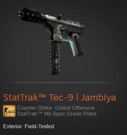 StatTrak™ Tec-9 | Jambiya (StatTrak™ Mil-Spec)