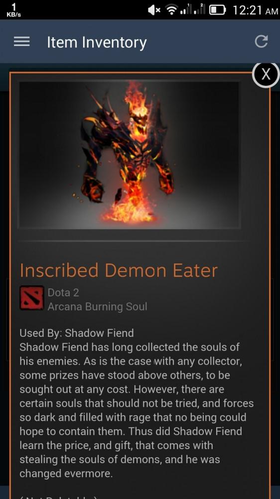Inscribed Demon Eater (Arcana Shadow Fiend)