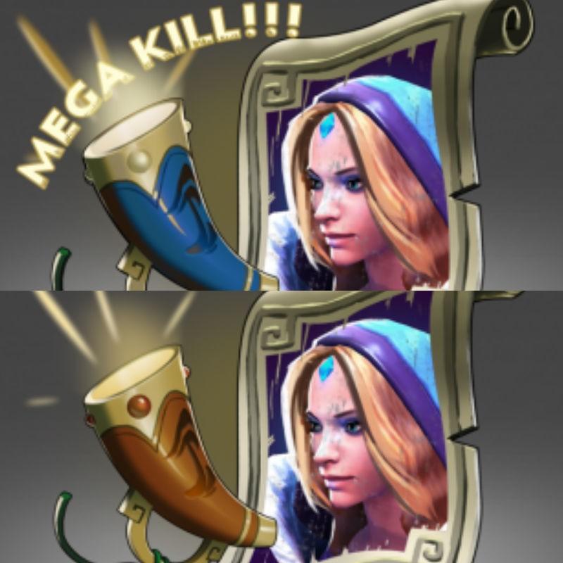 Mega-Kills + Announcer: Crystal Maiden