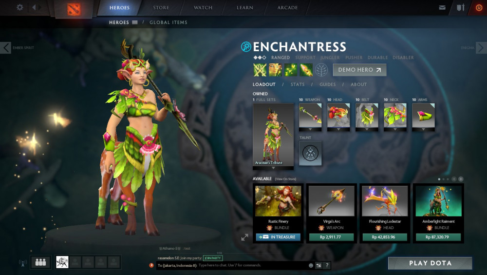 Araceae's Tribute (Enchantress Set)