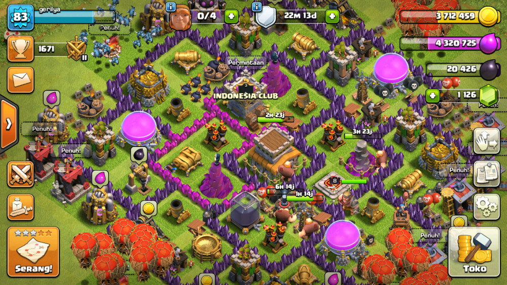 Town hall 8 up to 9 server Iphone