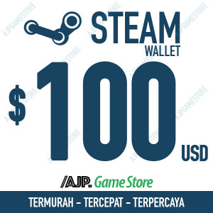 Steam Wallet Code - US$100