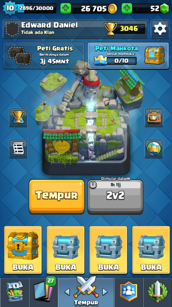 Legendary 8. Arena 10. Level 10.