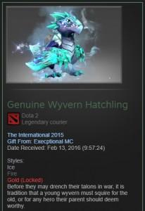 Genuine Wyvern Hatchling fire & ice (courir)