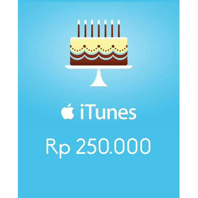 iTunes Gift Card Indonesia IDR250,000