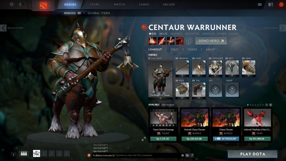 Weight of Omexe Set (Centaur Warrunner Set)