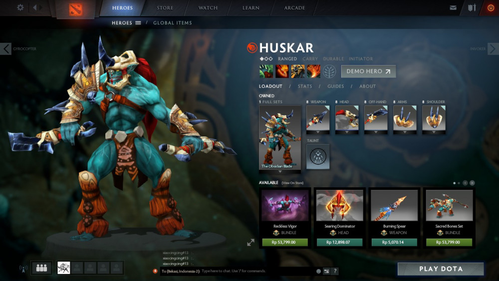 The Obsidian Blade Set (Huskar Set)