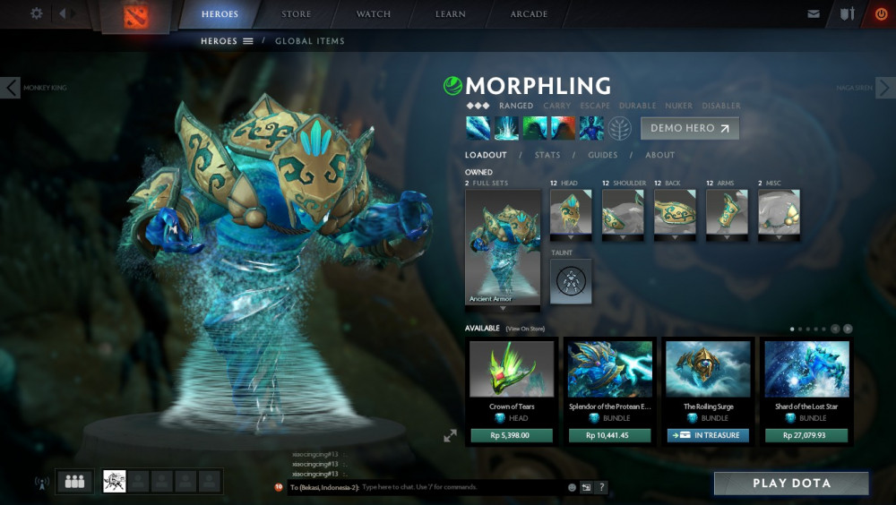 Ancient Armor (Morphling Set)