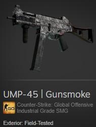 UMP-45 | Gunsmoke (Industrial Grade SMG)