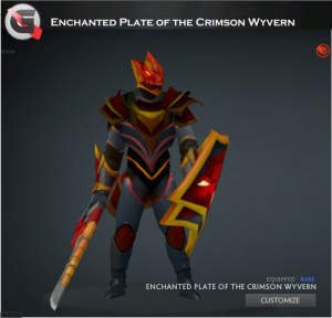 Enchanted Plate of the Crimson Wyvern Set (Dragon Knight Set)