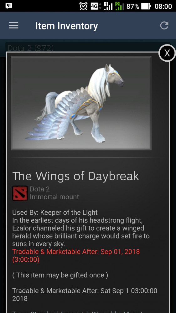 The Wings of Daybreak (Immortal TI7 Keeper of the Light)