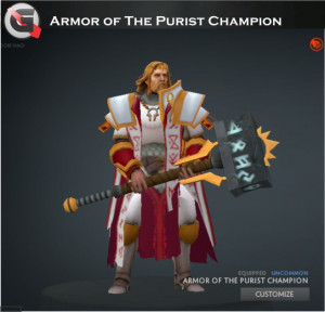 Armor of the Purist Champion (Omniknight Set)
