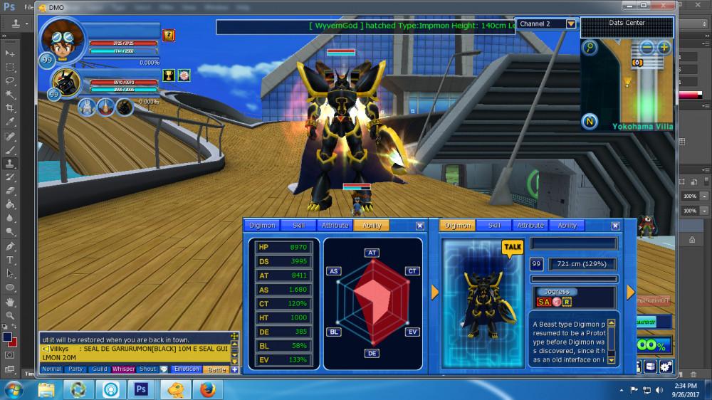 Akun Steam Digimon Master Lv 99