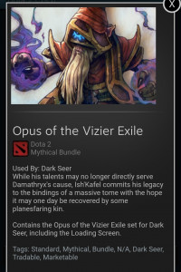 Opie of the Vizier Exile(Dark Serta Set)