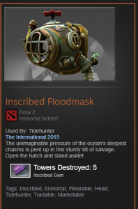 Inscribed Floodmask (Immortal Tidehunter)