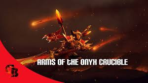 Inscribed Arms of the Onyx Crucible