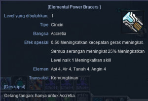 Cincin Elemental Power Bracers