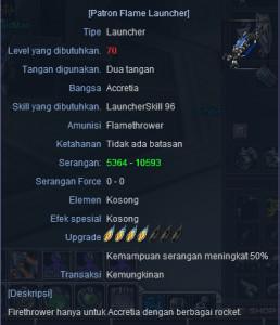 Patron Flame Launcher +4