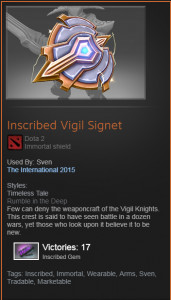 Inscribed Vigil Signet (Immortal Sven)
