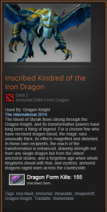 Inscribed Kindred of the Iron Dragon (Immortal Dragon Knight)