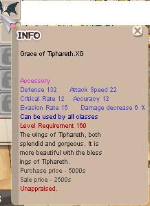 Grace of Tipareth XG