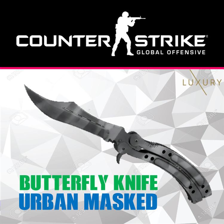 Butterfly Knife   Urban Masked