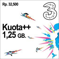 Tri Data - Kuota++ 1.25GB
