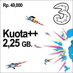 Tri Data - Kuota++ 2.25GB