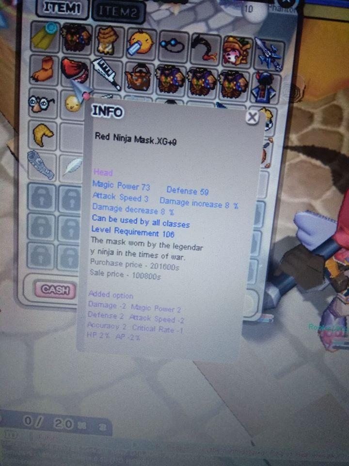 Red Ninja Mask XG+9 OPT Rame
