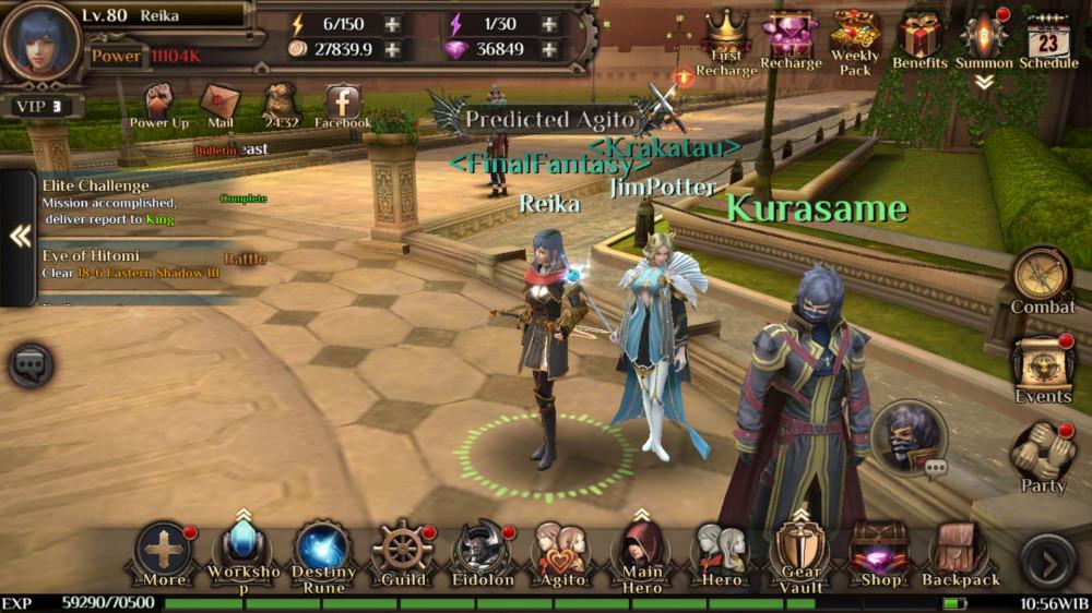 Final Fantasy Awakening Server S1- Level 80 VIP3