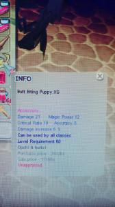 BUTT BITTING PUPPY XG+0