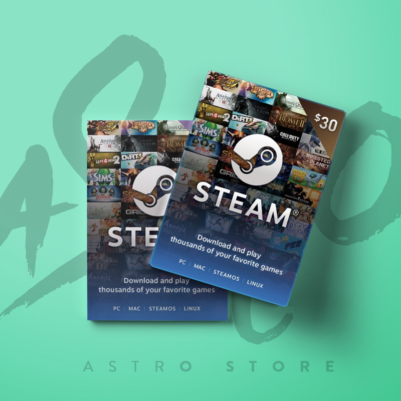 Steam Wallet Code - US$30